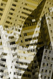 Abstrakcjonistyczni miasto budynki Fotografia Royalty Free
