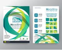 Abstrakcjonistyczni minimalni geometryczni round okregów kształty projektują tło szablonu broszurki ulotki projekta układu Plakat ilustracja wektor