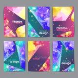 Abstrakcjonistyczni moda plakaty, wizytówka set Geometryczny projekt broszurka tytułu prześcieradło Sprawozdanie roczne szablon ilustracji