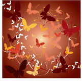 abstrakcjonistyczni motyle Obrazy Royalty Free