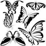 abstrakcjonistyczni motyle Obraz Stock