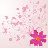 abstrakcjonistyczni motyli kwiaty Fotografia Stock