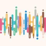 Abstrakcjonistyczni multicolor zaokrągleni kształty wykładają przemiany tło z kopii przestrzenią Elementu halftone stylu jaskrawy ilustracja wektor