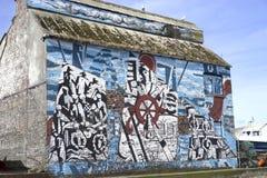 Abstrakcjonistyczni nautyczni graffiti Zdjęcia Royalty Free