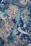 abstrakcjonistyczni niebieskie kryształy zdjęcie stock