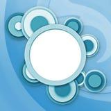 abstrakcjonistyczni niebieskie okno kółkowi Zdjęcia Stock