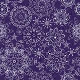 Abstrakcjonistyczni śniegów kwiaty Zdjęcia Stock