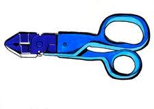 Abstrakcjonistyczni nożyce i cążki Zdjęcie Royalty Free