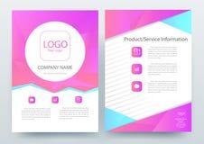 Abstrakcjonistyczni nowożytni ulotki broszurki projekta szablony Obrazy Stock
