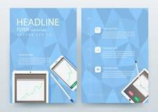 Abstrakcjonistyczni nowożytni ulotki broszurki projekta szablony Zdjęcie Stock