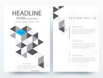 Abstrakcjonistyczni nowożytni ulotki broszurki projekta szablony Obraz Royalty Free