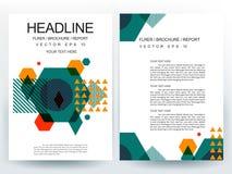 Abstrakcjonistyczni nowożytni ulotki broszurki projekta szablony Zdjęcie Royalty Free