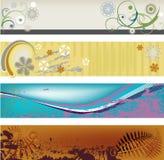 abstrakcjonistyczni nowoczesnych transparenty Obraz Royalty Free