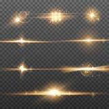 Abstrakcjonistyczni oświetlenie racy skutki Wybuchu świecenie i błyskotliwości światło Błyszczący plamy tło ilustracji