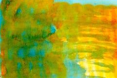 Abstrakcjonistyczni obmycie akwareli rysunku kleksy Zdjęcie Royalty Free