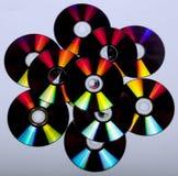 Abstrakcjonistyczni odbicia i kolory na płytach kompaktowa Fotografia Stock