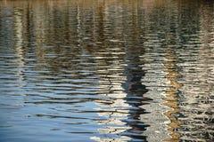 Abstrakcjonistyczni odbicia na wodzie Obrazy Royalty Free