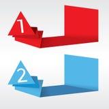 Abstrakcjonistyczni Origami sztandary. Zdjęcie Royalty Free