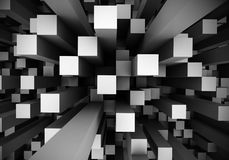 Abstrakcjonistyczni Perspektywiczni sześciany Zdjęcia Stock