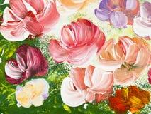 Abstrakcjonistyczni piękni kwiaty, jaskrawy koloru tło Fotografia Royalty Free