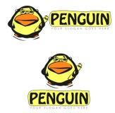Abstrakcjonistyczni pingwinów znaki Fotografia Stock