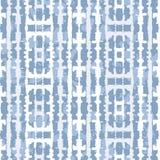 Abstrakcjonistyczni Pionowo Odzwierciedlający Błękitni Cajgowi barwidła Shibori lampasy na Lekkim Indygowym Backrgound Wektorowym royalty ilustracja