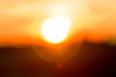 Abstrakcjonistyczni plamy światła wizerunku Sunbeams przechodzi przez chmur Obrazy Royalty Free