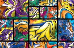 abstrakcjonistyczni pola tło Obraz Royalty Free