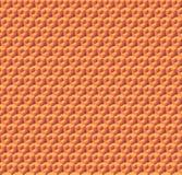 Abstrakcjonistyczni pomarańczowi sześciany Bezszwowy deseniowy tło świadczenia 3 d Fotografia Royalty Free