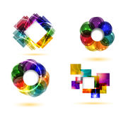 Abstrakcjonistyczni projektów elementy Obrazy Stock