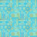 Abstrakcjonistyczni przekładni wheals, okręgi i deseniują turkusowego błękitnej zieleni brąz ilustracja wektor