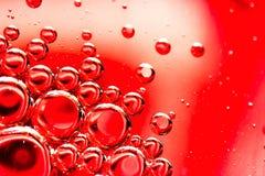 Abstrakcjonistyczni przyglądający oleju i wody bąble Zdjęcie Stock