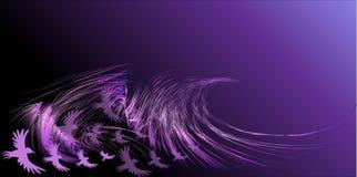 Abstrakcjonistyczni ptaki Zdjęcia Stock