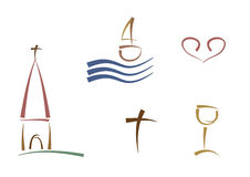 abstrakcjonistyczni religijni symbole Obraz Royalty Free
