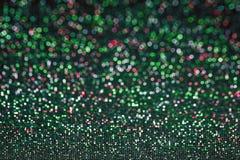 Abstrakcjonistyczni romantyczni kolorowi bokeh okręgi dla Bożenarodzeniowego backgroun fotografia royalty free
