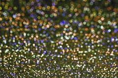 Abstrakcjonistyczni romantyczni kolorowi bokeh okręgi dla Bożenarodzeniowego backgroun fotografia stock
