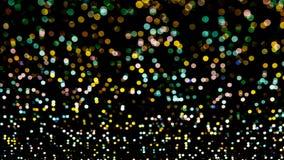 Abstrakcjonistyczni romantyczni kolorowi bokeh okręgi dla Bożenarodzeniowego backgroun Obrazy Royalty Free
