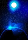 Abstrakcjonistyczni słońca i ziemi tła wektorowi ilustracyjni elementy ten wizerunek meblujący NASA Obraz Stock
