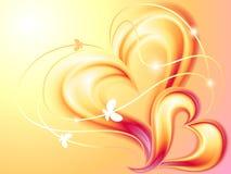 abstrakcjonistyczni serca Obraz Royalty Free
