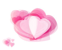 Abstrakcjonistyczni serca. Fotografia Stock