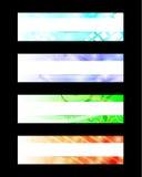 Abstrakcjonistyczni sieć sztandary Zdjęcia Royalty Free
