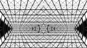 Abstrakcjonistyczni Stalowi promienie zdjęcie royalty free