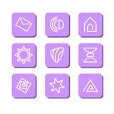 Abstrakcjonistyczni symbole Zdjęcie Royalty Free