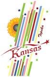 Abstrakcjonistyczni symbole stan Kansas Fotografia Royalty Free