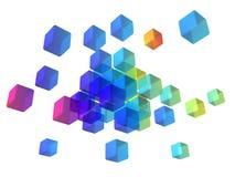 abstrakcjonistyczni sześciany ilustracja wektor