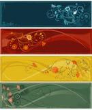 abstrakcjonistyczni sztandarów kwiaty Zdjęcie Royalty Free