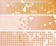 abstrakcjonistyczni sztandary śmietankowi trzy zdjęcia royalty free