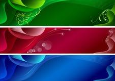 abstrakcjonistyczni sztandary Fotografia Stock