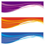 abstrakcjonistyczni sztandary Obraz Stock
