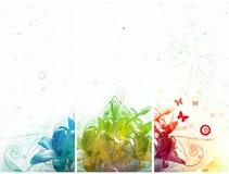 abstrakcjonistyczni sztandary trzy Zdjęcie Stock